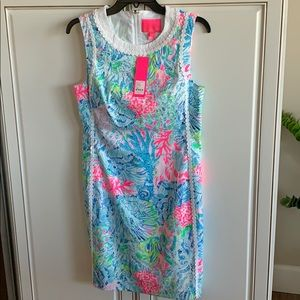 NWT Lilly Pulitzer coral design dress